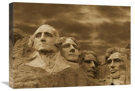 Tim Fitzharris - Mount Rushmore National Monument, South Dakota - Sepia