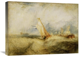 Joseph Mallord William Turner - Van Tromp, going about to please his Masters, Ships a Sea, getting a Good Wetting,