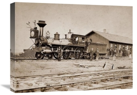 A.J. Russell - Wyoming Station, Engine 23 on Main Track, May 1868