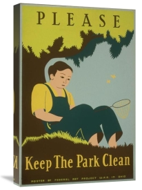 Stanley Thomas Clough - Please Keep the Park Clean, 1938