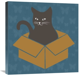 BG.Studio - Cat in a Box - Blue