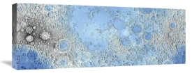 United States Geological Survey - Unmarked Decorative Topographic Map of the Moon, Projection