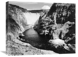 Ansel Adams - Hoover Dam from Across the Colorado River - National Parks and Monuments, 1941