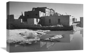 Ansel Adams - Adobe House with Water in Foreground - Acoma Pueblo, New Mexico - National Parks and Monuments, ca. 1933-1942