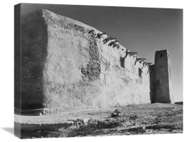 Ansel Adams - Church Side Wall and Tower, Acoma Pueblo, New Mexico - National Parks and Monuments, ca. 1933-1942