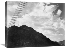 Ansel Adams - Looking Toward Sugarloaf Mountain With Boulder Dam Transmission Lines - National Parks and Monuments, ca. 1940
