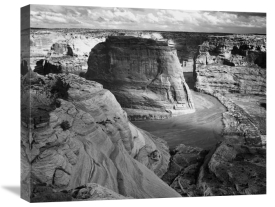 Ansel Adams - View of valley from mountain, Canyon de Chelly, Arizona - National Parks and Monuments, 1941