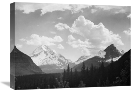 Ansel Adams - Mountains and Clouds, Glacier National Park, Montana - National Parks and Monuments, 1941