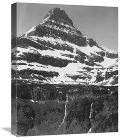 Ansel Adams - Snow Covered Mountain Glacier National Park, Montana - National Parks and Monuments, 1941