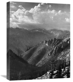 Ansel Adams - Middle Fork at Kings River from South Fork of Cartridge Creek, Kings River Canyon, proposed as a national park, California, 1936
