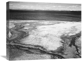 Ansel Adams - Yellowstone Lake - Hot Springs Overflow, Yellowstone National Park, Wyoming, ca. 1941-1942
