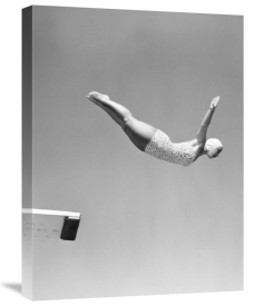 Anonymous - Woman Swan Dive Off Diving Board, 1950