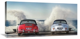 Gasoline Images - Ocean Waves Breaking on Vintage Beauties