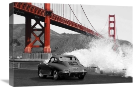 Gasoline Images - Under the Golden Gate Bridge, San Francisco (BW)