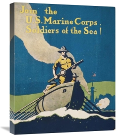 Unknown 20th Century American Artist - Join the U.S. Marine Corps Soldiers of the Sea!, 1914/1918