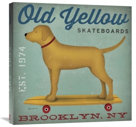 Ryan Fowler - Golden Dog on Skateboard