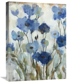 Silvia Vassileva - Abstracted Floral in Blue II