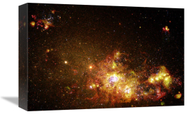 NASA Archive Photo - Fireworks of Star Formation Light Up a Galaxy