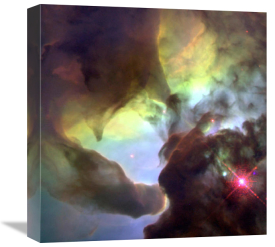 NASA Archive Photo - Giant Twisters in the Lagoon Nebula