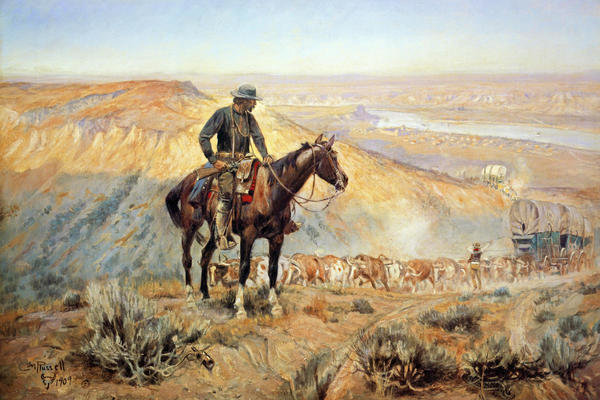 Charles m russell the wagon boss art print global gallery