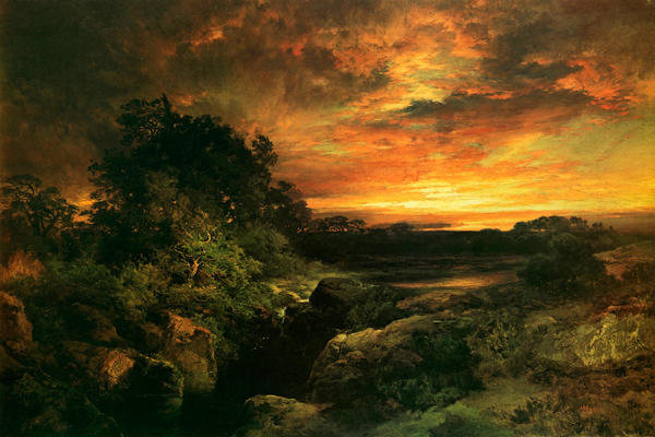 Thomas Moran Arizona Sunset Near The Grand Canyon Art