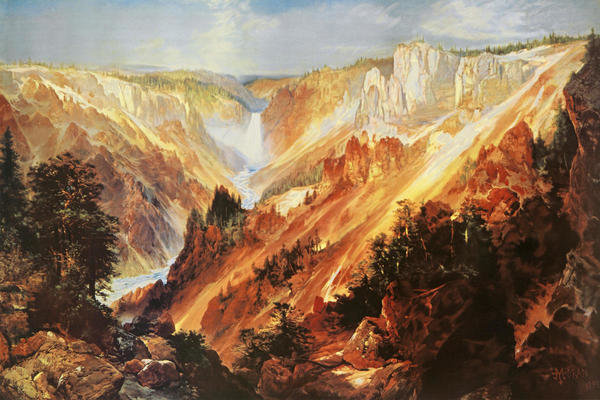Thomas Moran The Grand Canyon Of The Yellowstone Art