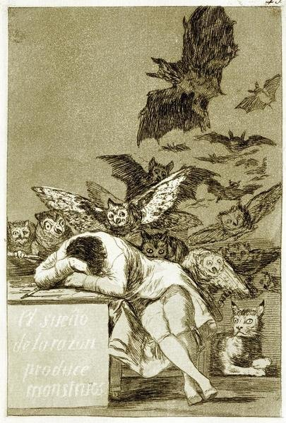 Francisco De Goya The Sleep Of Reason Produces Monsters Los Caprichios Art Print Global Gallery
