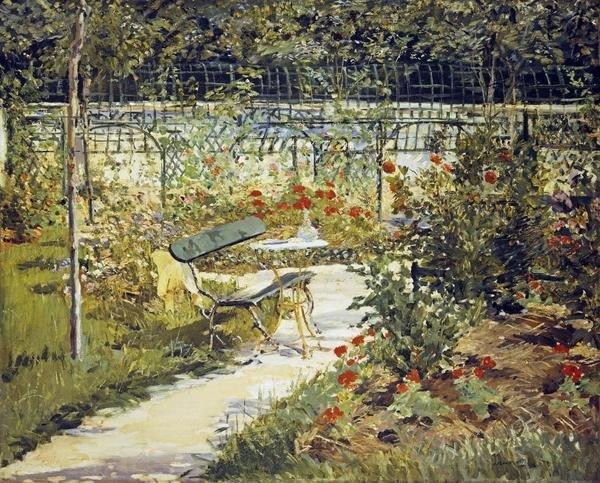 Edouard Manet The Bench Garden At Versailles Art