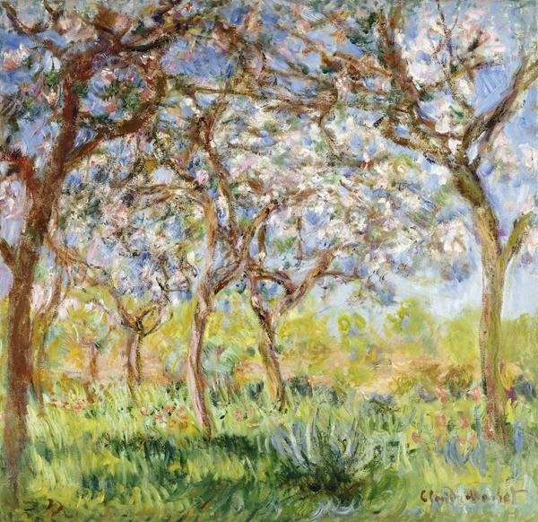 Claude Monet Spring At Giverny Art Print Global Gallery