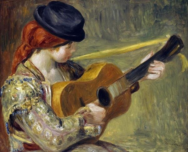 Pierre Auguste Renoir Girl With A Guitar 1897 Art