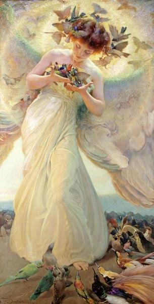 Franz Dvorak The Angel Of The Birds Art Print Global
