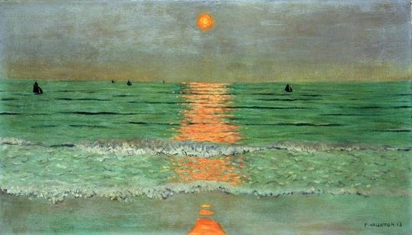 Felix Vallotton Sunset Coucher De Soleil Art Print