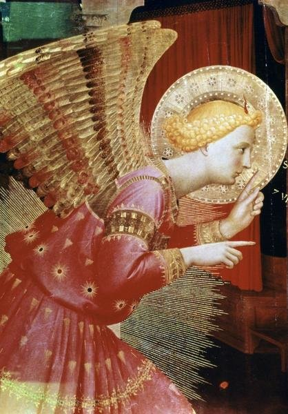 Fra Angelico Angel Of The Annunciation Detail Art