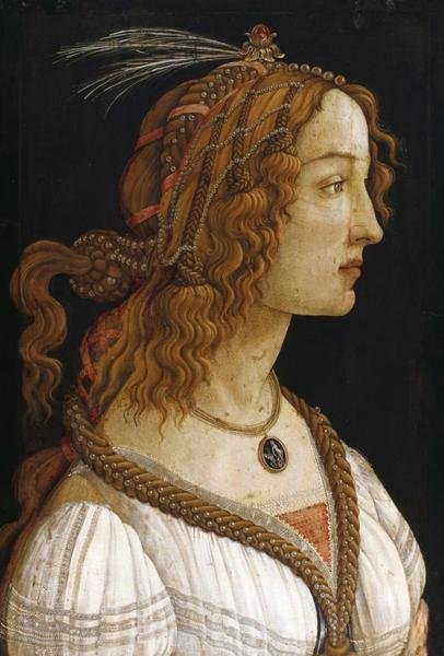 Sandro Botticelli Portrait Of A Young Woman Art Print