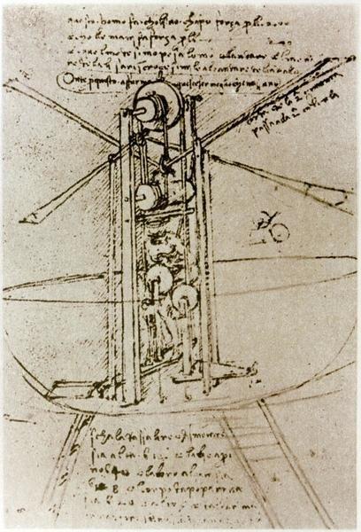Leonardo Da Vinci Drawing Of A Flying Machine Art