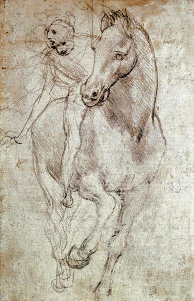 Leonardo Da Vinci - Horse & Rider - Art Print - Global Gallery