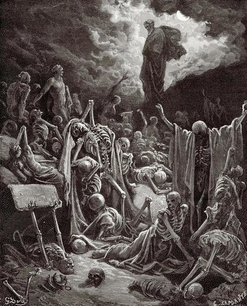 Gustave Dore The Visions Of Ezekiel The Vision Of The