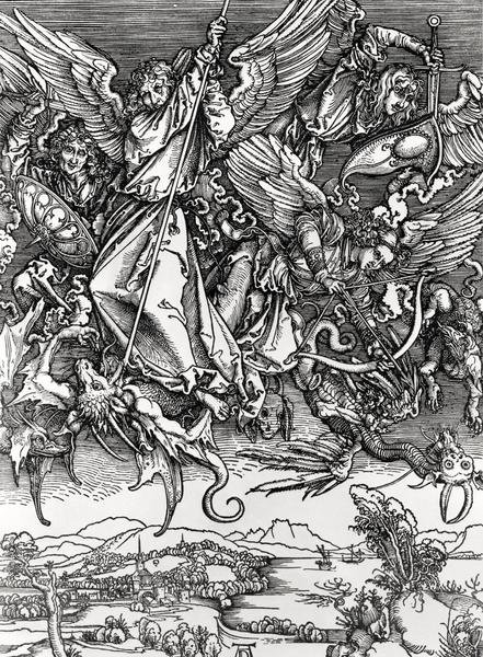 Albrecht Durer St Michael Fighting The Dragon Art