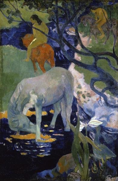 Paul Gauguin The White Horse Le Cheval Blanc Art