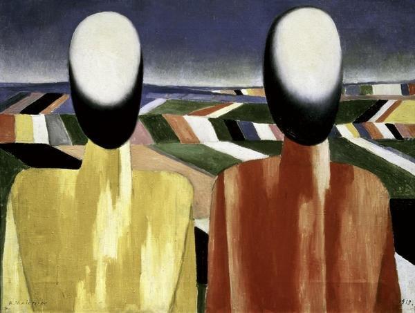 Kazimir Malevich Two Farmers Art Print Global Gallery