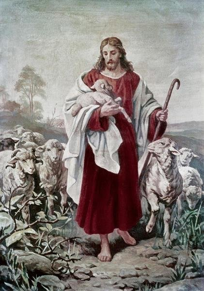 Bernhard Plockhorst The Good Shepherd Art Print