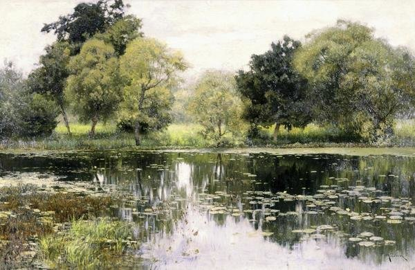 Isaak Levitan Water Lilies On A Pond Art Print