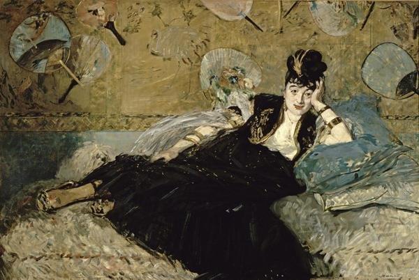 Edouard Manet La Dame Aux Eventails Nina De Callias