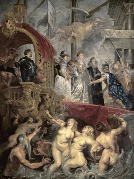 Peter Paul Rubens Landing At Marseilles Life Of Marie