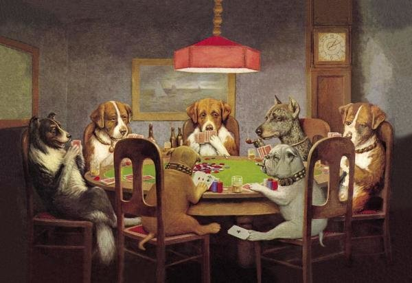 C M Coolidge Poker Dogs A Friend In Need 1903 Art