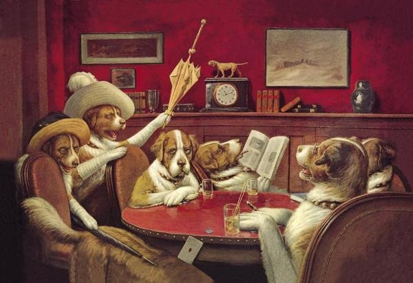 C M Coolidge Poker Dogs This Game Is Over 1903 Art