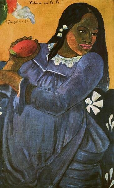Paul Gauguin Woman With Mango Art Print Global Gallery