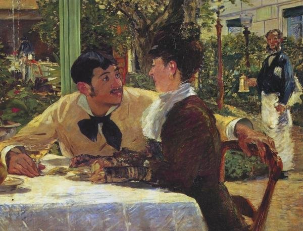 Edouard Manet Couple At Pere Lathuille Art Print