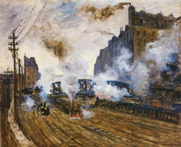 Claude Monet La Tranchee Des Batignolles Art Print
