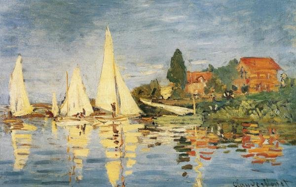 Claude Monet Sailboats At Argenteuil Art Print